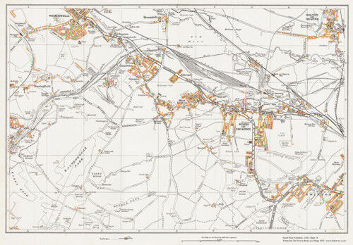 Wath on Dearne Yorkshire 1938 Map 76