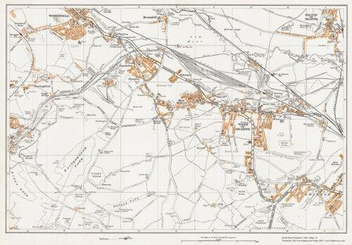 Wath on Dearne Yorkshire 1938 Map 76