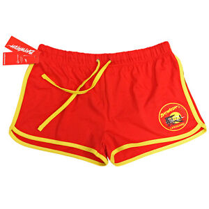 LADIES LICENSED BAYWATCH ® DRAW STRING RED & YELLOW SHORTS - LIFE ...