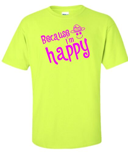 Pink tee t-shirt Despicable 2 Because I/'m Happy Pharrell Williams Hat Saftey