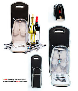 7 Pcs Wine Carrier Tote Bag Insulated Wine Bottle Holder