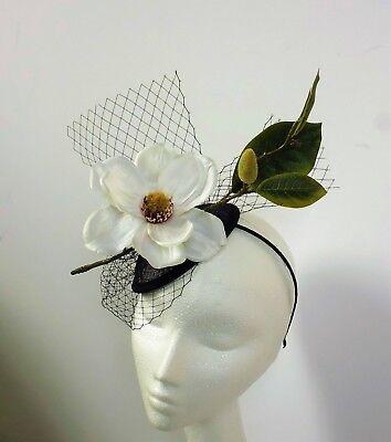 Crema Magnolia Fiore Fascinator Con Cappello Copricapo Da Matrimonio Ascot Gare Donna Giorno- Conveniente Da Cucinare