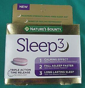 bounty sleep natures melatonin release triple tablets 10mg action
