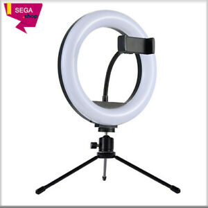 Table Lamp 8inch Studio Ring Light Led Photography Camera Lights With Table Ebay