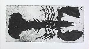 Reinhard drenkhahn-grande aragosta pressione con firma acquaforte gessetti arte-Edition