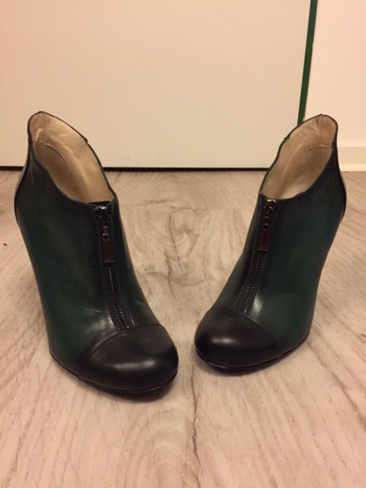 Stiefeletten, Gil, Gr.36,5, Paco Gil, Stiefeletten, 9cm Absatz, Bicolor grün-schwarz, NP 2dc488