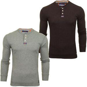 Camiseta-para-hombre-Superdry-Grandad-039-manga-larga-Heritage-Grandad-039