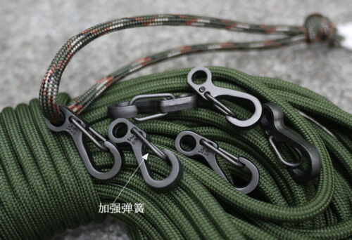 Mini Key Rings Spring Buckle Snap Hook Carabiners Paracord Accessories 3 Colors