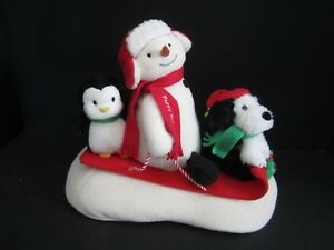 Hallmark-Jingle-Pals-Sleigh-Ride-Animated-Singing-Snowman-Tested-Works