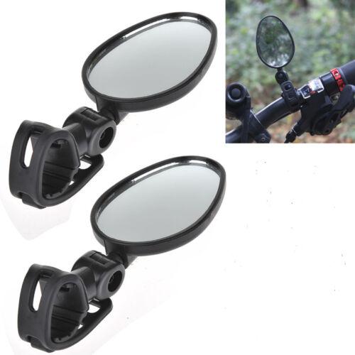 2 Pack Mini Rotaty Handlebar Glass Mirror Rearview for Road Bike Bicycle NEW