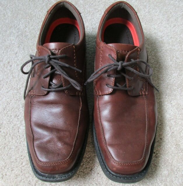 Apron Toe Brown Leather Oxfords
