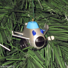 Little Airplane - Custom Christmas Tree Ornament Holiday Decoration - w/Stars