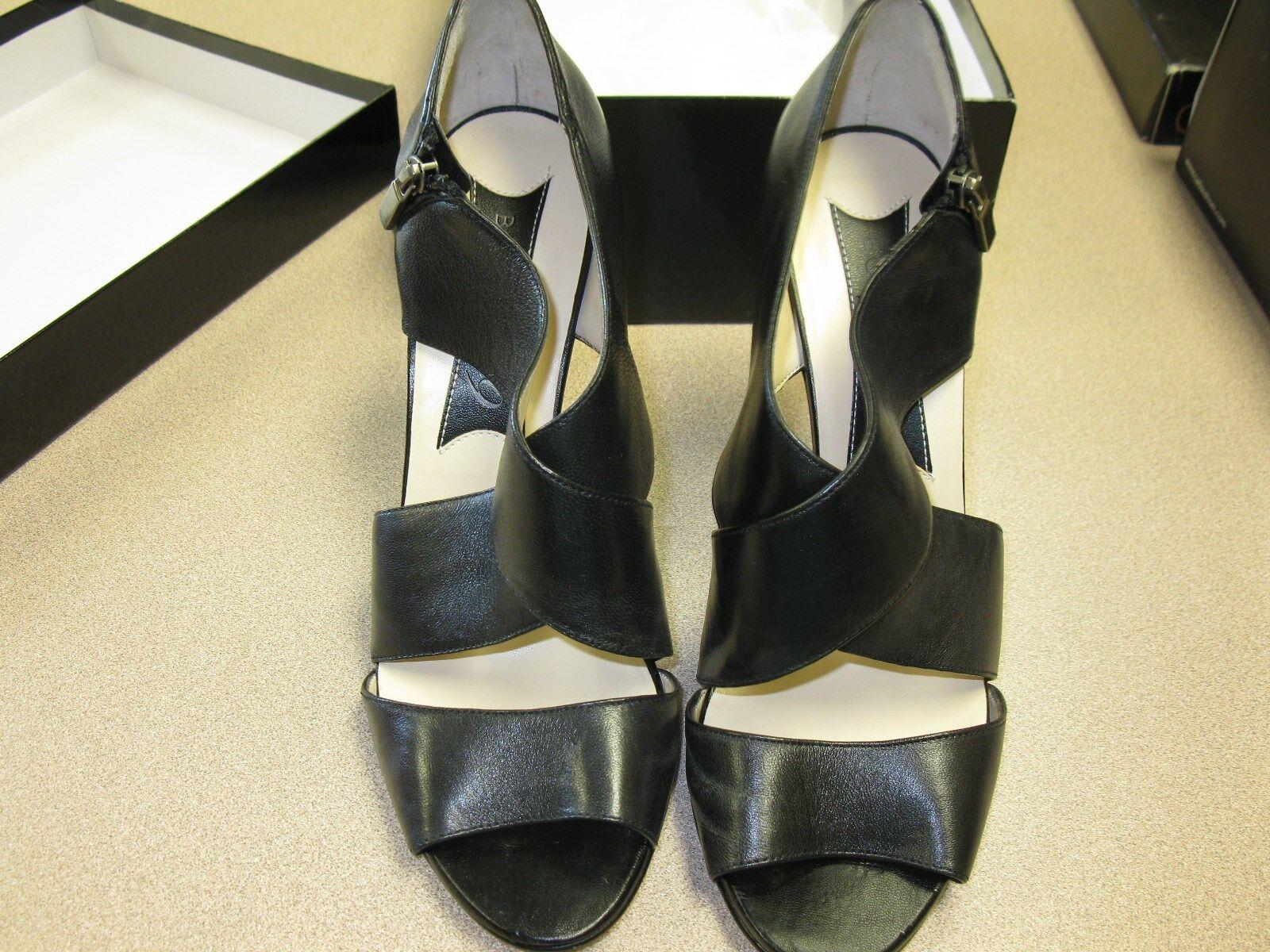 Boutique 9 Wouomo Thomsina Dress Sandals nero Leather Dimensione 10 M