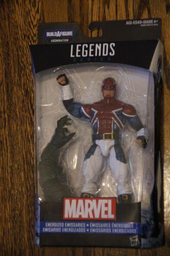 "Legends Series Energized Emissaries Captain Britain 6/"" Figure Brand New-Marvel"