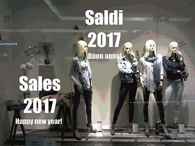 """Kit adesivi vetrina /""""saldi/""""  NUMERI SCONTI ADESIVI PER PROMOZIONI negozio sale"""