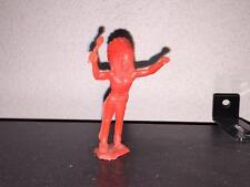 MPC Indian Chief with Bonnet and Club in Red Plastic.  54mm Scale