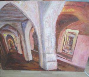 Bild-Acryl-Ciutadella-Pink-Maler-Caterina-Salom-Bubel-Towel-80cm-x-120cm