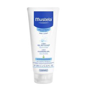 Mustela 2 in 1 Cleansing Gel 200mL Normal Skin Cleans and Softens Bebe-Enfant
