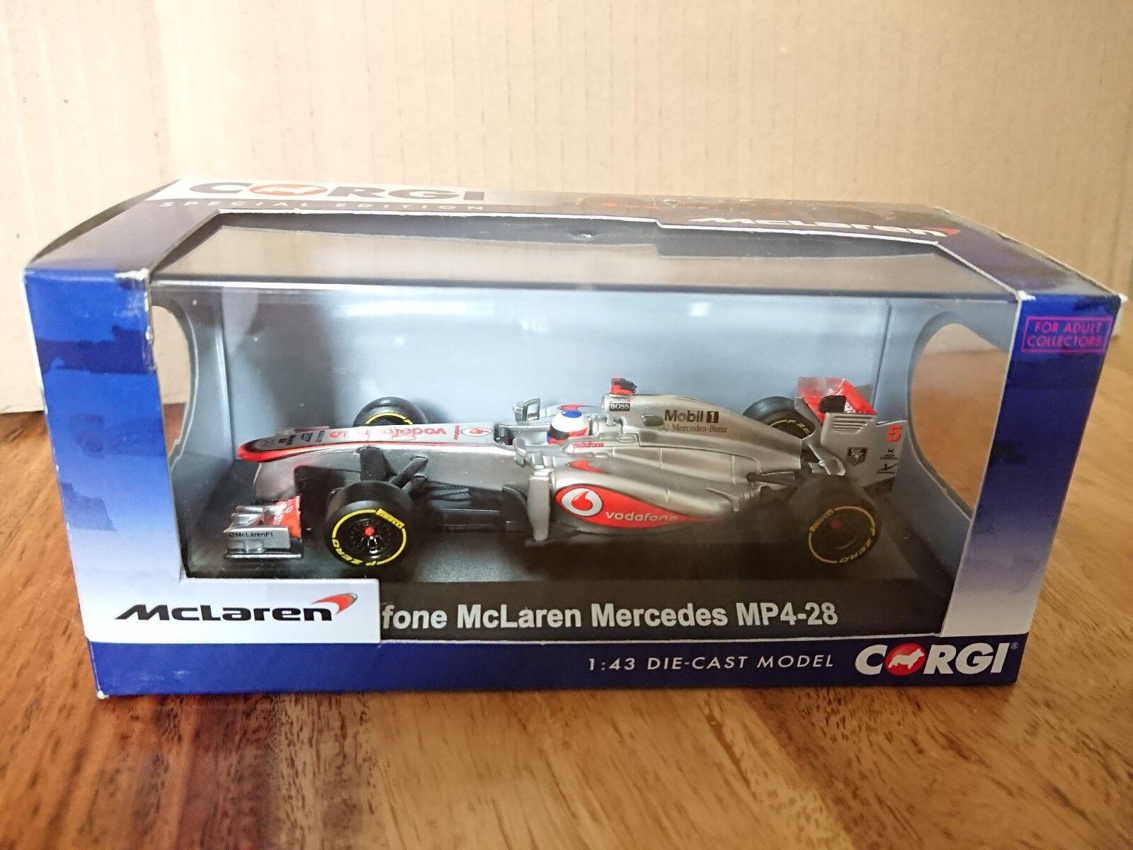 Corgi CC56701 Vodafone McLaren Mercedes MP4-28 2013 F1 Race Car Jenson Button