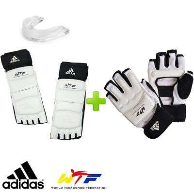 Mouth NEW Adidas WTF Approved TAEKWONDO Sparring Gears Forearm,Shin Protector