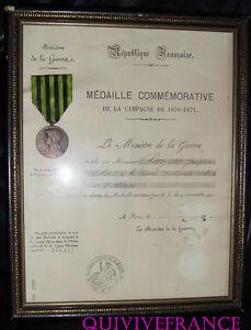 DIPLOME-amp-MEDAILLE-GUERRE-1870-1871-GARDE-NATIONALE-MOBILE-DE-L-039-ALLIER