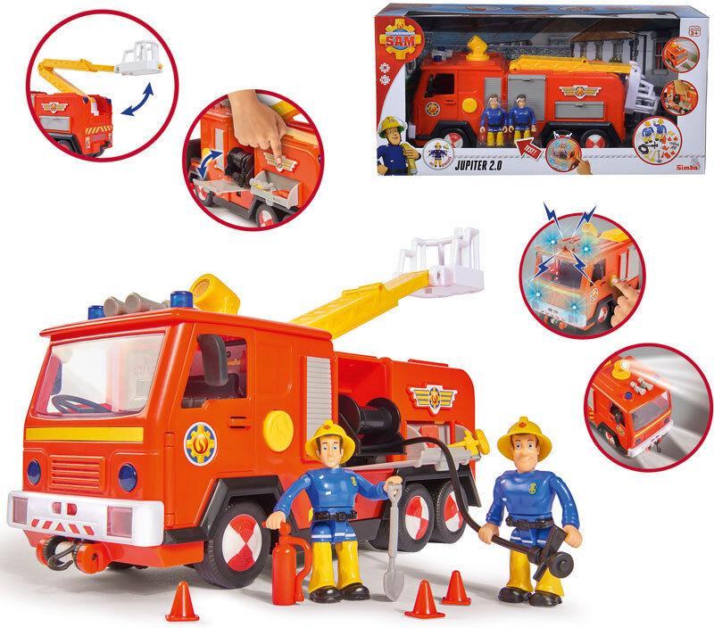 POMPIERE Sam Jupiter 2.0 con 2 personaggi vigili del  fuoco auto auto vigili del fuoco NUOVO  sport caldi