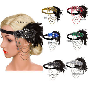 1920s-Flapper-Headband-Accessories-Gatsby-Style-20s-Headpiece-Feather-Hair-Bands