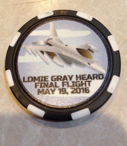 Lomie Gray Heard Elementary Commemerative Poker Chips Final Flight May 19,2016
