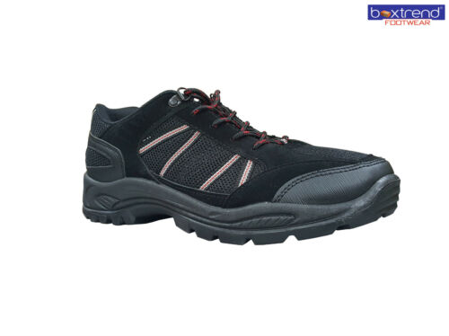 MENS HIKING BOOTS TRAINERS SHOES LACE UP WALKING TRAIL TREKKING BLACK SIZE 6-11