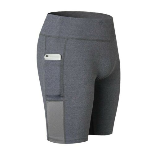 Details about  /Women Compression Yoga Sport Shorts Leggings Pocket Running Exercise Tight Pants