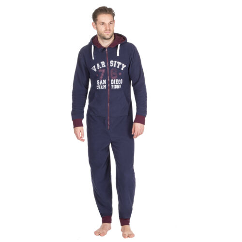 Mens Pyjamas Jumpsuit  Hood Size All In One Fleece onezee body suit one  piece