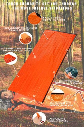 Notfall Schlafsack thermische wasserdicht für Outdoor Survival Camping Wandern D