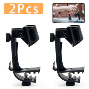 Clip-On-Drum-Rim-Shockproof-Mount-Microphone-Mic-Clamp-Stand-Holder