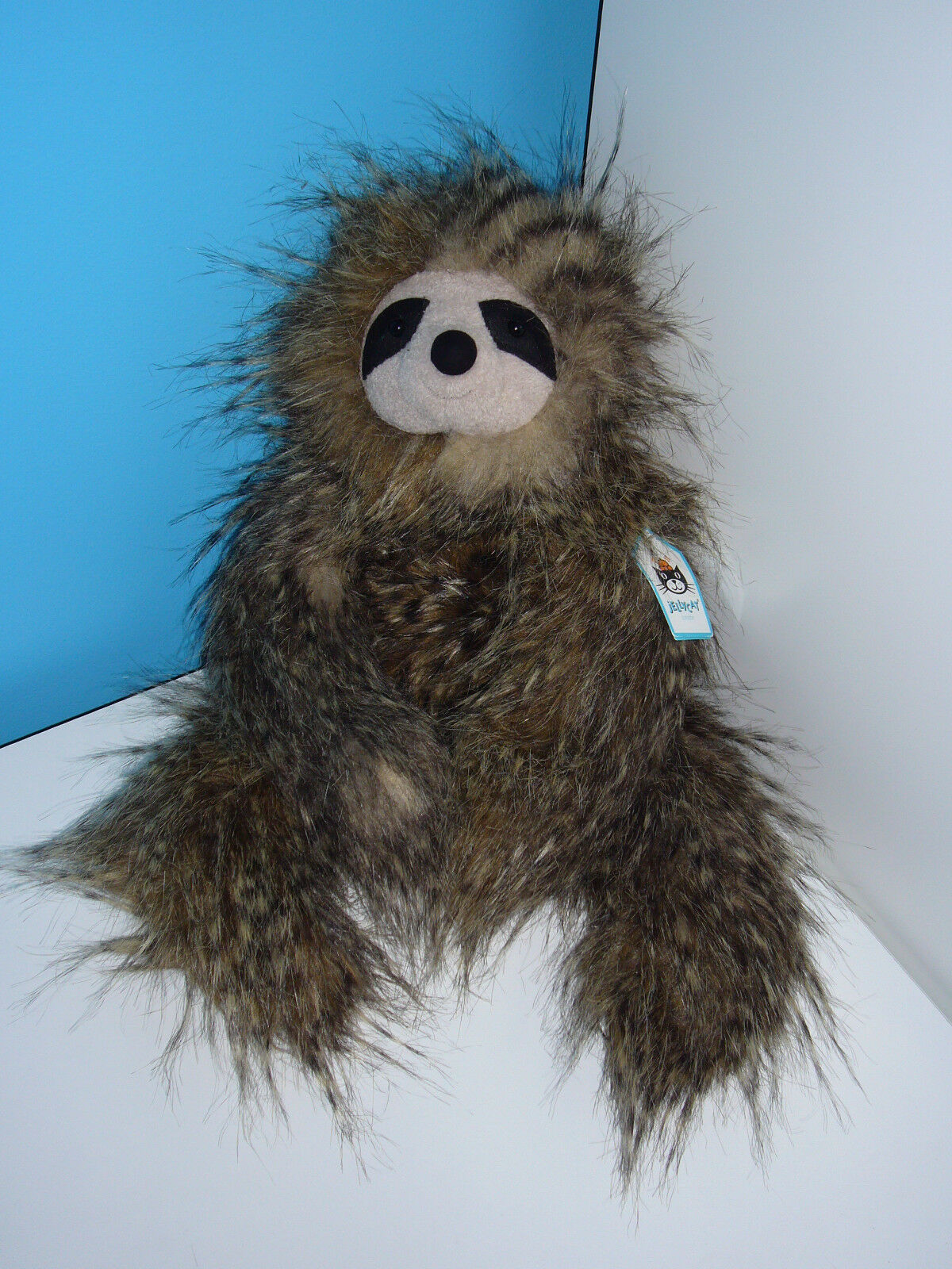 New BNWT Jellycat Cyril Sloth Soft Beanie Toy 16  J2594   CY2SL