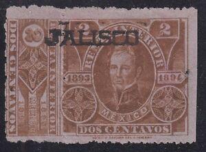 "MEXICO, 1893-94. Revenue Jalisco ""Renta"" JA88, Used"