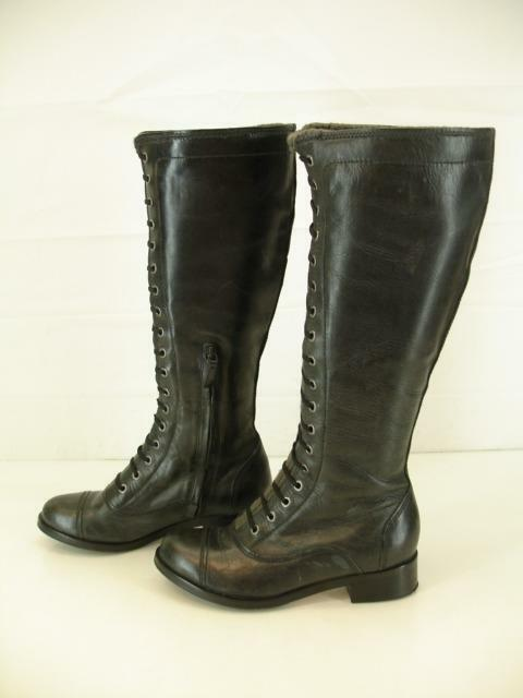 mujer Sz 5.5 B M Cole Cole Cole Haan Air Whitley botas de montar Cuero Negro Cremallera Hasta La Rodilla f51ce0