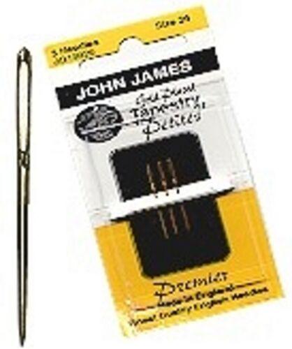 Lot of 2 packs  NEW!!! JOHN JAMES GOLD PETITE NEEDLES