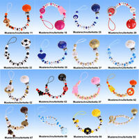 Schnullerkette mit Namen individuell UNIKAT NEU frei Auswahl Myschnullerkette 10