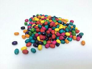 300 Perles de verre grain de riz