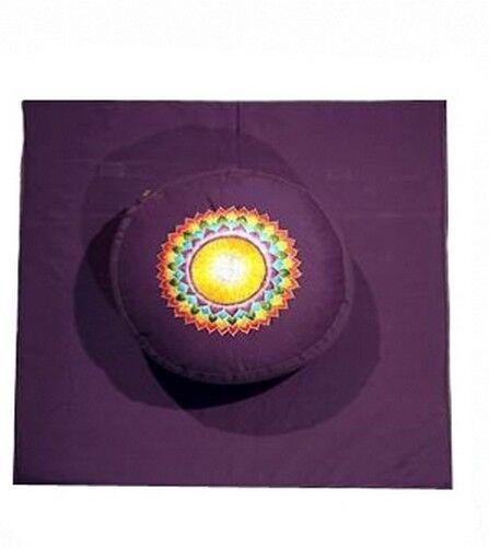 Meditationskissen Meditationsset purplet Chakra Yogamatte XL Yoga
