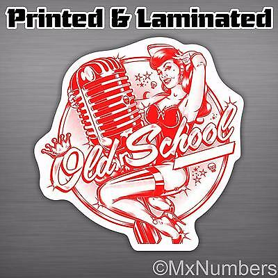Old School Decal Sticker Pinup Sexy Girl Race Window JDM Bug Bus VW Hot Rod