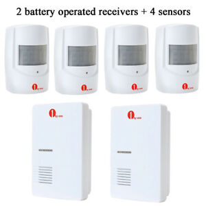 1byone-Wireless-Doorbell-Sensor-Driveway-Alert-Animal-Detector-4-Infrared-Sensor