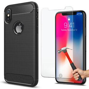 Coque-Matte-Apple-iPhone-X-XS-MAX-XR-6-6S-Plus-7-8-Ultimate-Film-Verre-Trempe