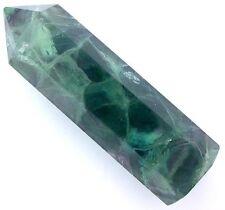 106.3 Gram 3 3/10 Inch Natural Multi Color Fluorite Point Obelisk Gemstone FO2