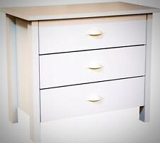 3 Drawer Dresser White Home House Bedroom Living Room Entryway Furniture  Decor