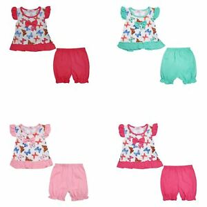 c25d723e41638 Baby Girls Dress Top and Shorts Set Toddler Outfit Butterfly Summer ...