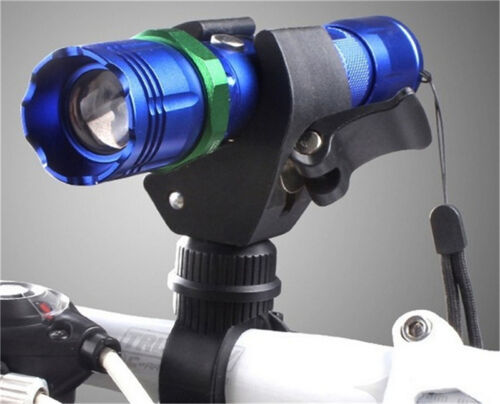 Cycling Bicycle Led Flashlight Holder Front light Mount Clip Torch Bracket JB