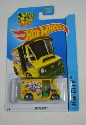 Case N 2014 Hot Wheels BREAD BOX #7 ☀Yellow//Green//Blue;PAINT CO☀Delivery truck