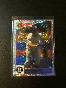 1993-Panini-Album-Stickers-Glitter-Foil-Ken-Griffey-Jr-63-HOF-Low-Pop