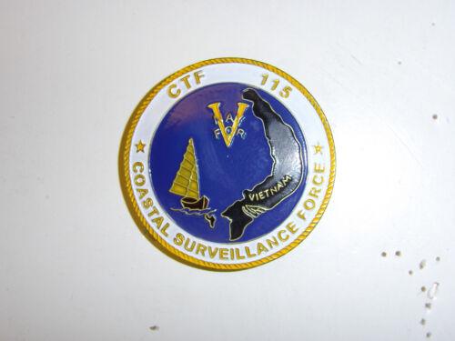 0274 Vietnam US Navy CTF 115 Beret Badge Coastal Surveilance Force IR32A